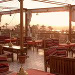 Nefertiti hotel roof terrace (Sunset)