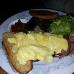 Champion with scrambled eggs
