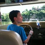 "Our 10 year old grandson driving the DUCK.  He told us, ""I had a blast""!!"