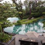 la vue sur les piscine