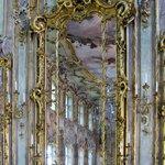 Mirror detail in Rococo ballroom