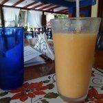 Papaya and Maracuya Smoothie...no artificial sugar...