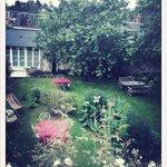 La vue du sublime jardin