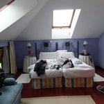 Zimmer 34 unter dem Dach