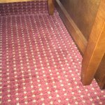 carpet not cleaned in room