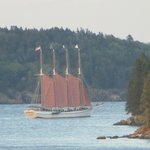 """VIEW FROM OUR DECK """"RED SAILS IN THE SUNSET"""""""