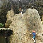 Rockwall in the rain