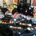 Breakfast spread in the lounge