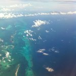 Approaching Bahamas: the color of the sea is magnificent!