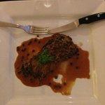 filetto di bue al pepe verde