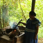 Cooking cacao fruit