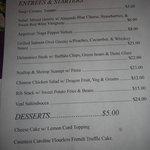 entree menu for Friday