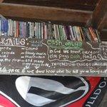 The bar chalk board