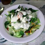 Teresa Andre's Delicious Multi-Ingredient Salad with the Andres' Own Bleu Cheese Dressing