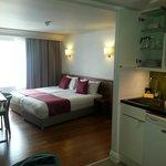 Our kitechette/bedroom