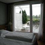 Vista do quarto para varanda (2º andar)