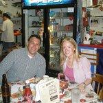 Guy and Sarah enjoying Dave's Red Anchor Cafe