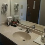 Sink and Room amenities