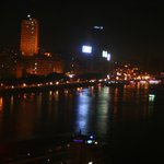 Nile at Night from Room Balcony