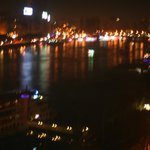 Nile view at night from Room Balcony