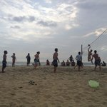 Volleyball with the locals/friends at Bueno Onda