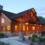 Our wonderful new log lodge and activity center