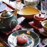 精緻的日式茶點
