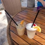 Drinks from the Tiki bar