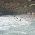 People enjoying the waves