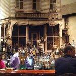 Photo behind the bar of original building