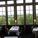 View of Cayuga Lake from dining room in inn