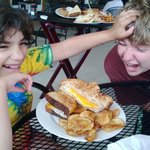 """""""Grilled Cheese As Big As Your Head"""" means fighting off your hungry cousins when it comes to the"""