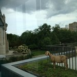 Goat statue overlooking American Swedish Institute 6 29 2013