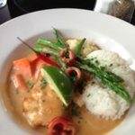 Curry halibut