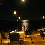 Moon rise in April (2) from the restaurant. Photo as taken, no enhancement.