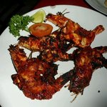 Chilli barbecued fresh water prawns