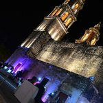 Campeche Cathedral at night