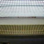 Light grid in restroom