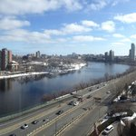 Charles river and Boston, view from hotel room