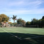 Tennis Court with Lights
