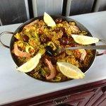 traditional Spanish paella dinner