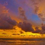 The sunset at Natai - so vibrant