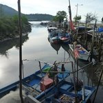 Michael took us to a local fishing village