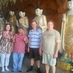 Visiting temples with Michael