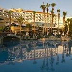Hotel across pool