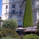 Facade, terrace hotel