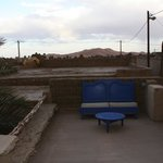 View from the roof terrace to the sand dunes