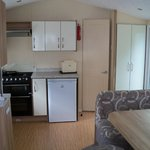 kitchen area of caravan 'yellow 18'