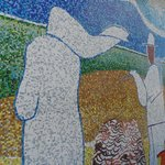 Extraordinary mosaic wall mural