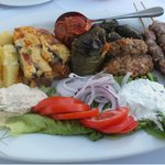greek sharing plate